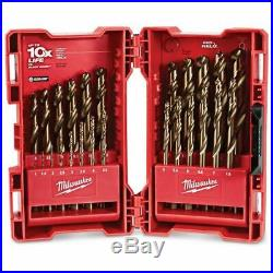 Milwaukee METRIC HSS-COBALT METAL JOBBER DRILL BIT SET 1-13mm 25Pcs USA Brand