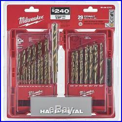 Milwaukee Red Helix 29-Piece Cobalt Drill Bit Set