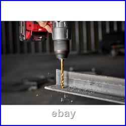 Milwaukee SHOCKWAVE Titanium Drill Bits Set Cobalt Red Helix Wood Plastic 29-Pcs