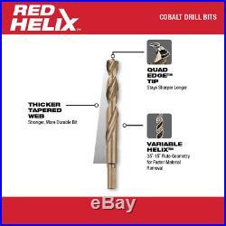 Milwaukee Twist Drill Bit Set 135-Degree Split Point RED HELIX Design 29-Piece