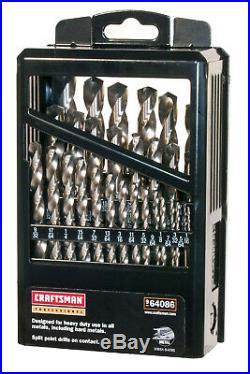 NEW Craftsman 29 pc Cobalt Professional Drill Bit Set 1/16 to 1/2 FREE SHIP