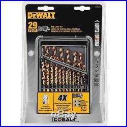 NEW! DEWALT DWA1269 Pilot Point Industrial Cobalt Drill Bit Set (29 Piece)