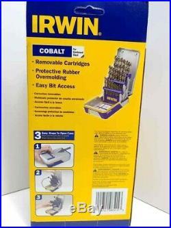 NEW Irwin Tools 29 Piece Cobalt Drill Bit Set 3018002B 1/16 To 1/2 NIB