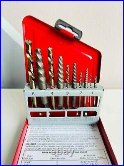 NEW Snap On 10-pc Left-Hand Cobalt Drill-Extractor Set EXDL10