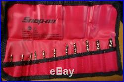 NEW Snap On Tools 11 Pc Left Hand Cobalt Short Drill Bit Set DBTRCSL11