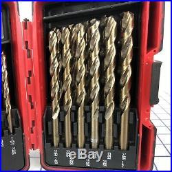NICE Mac Tools 29 Piece Cobalt Drill Advanced Helical Flute Bit Set 6429DSA