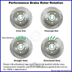Nakamoto Ceramic Brake Pads & Performance Drilled Slotted Rotor Kit Front Rear