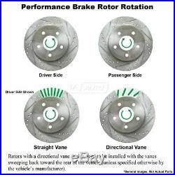 Nakamoto Performance Drilled Slotted Brake Rotor & Posi Metallic Pads Front Set