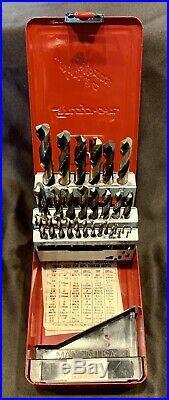 Never Used Snap On Tools 29 Piece Cobalt Drill Bit Set 1/16 1/2 DBC229 Set