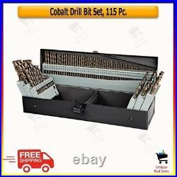 New 115 Pc Piece Metal Cobalt Fractional Drill Index Bit Set -steel Colbalt