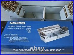 New 115 Piece Jobber Length Cobalt Drill Bit Set 1/16- 1/2 #1-60 A-z Comoware