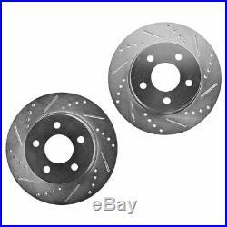 New Disc Brake Caliper Posi Ceramic Pad & Performance Rotor Rear Kit for Chevy