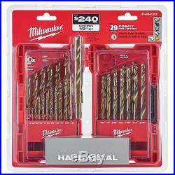 New Milwaukee Cobalt Red Helix Drill Bit Set (29-Piece)