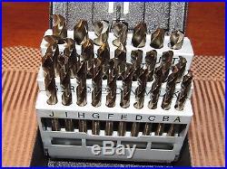 New Precision Twist Screw Machine Drill Bit Set Cobalt letter size