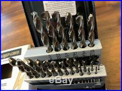 New Snap-on DBTBC121 Jobber Length Cobalt ThunderBit 21 Piece Drill Bit Set BIN