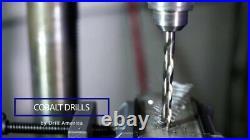 New in Box Drill America 33 Piece m35 Cobalt Reduced Shank Drill Bit Set