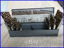 Norseman 115 pc COBALT M42 Drill Bit Set Number Letter 1/16 to 1/2 USA D-115