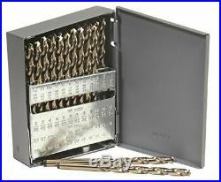 Norseman 68420 240-D 135deg Split Pt Cobalt Jobber Gold Finish Drill Set 60 PC