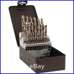 PRECISION DORMER C29R10CO 1/16-1/2x 64ths 29 Pc Cobalt Jobbers Drill Set