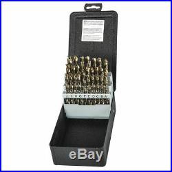 PRECISION TWIST DRILL C26R15COSET Spiral HSS-E Jobber Drill Set, Bronze