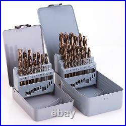 PROFESSIONAL 19/25Pc HSS-CO COBALT DRILL BIT SET Metal/Stainless Steel Tool