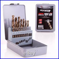 PRO 19Pc HSS-CO COBALT DRILL BIT SET Stainless Steel/Hard Metal 1mm 10mm Tool