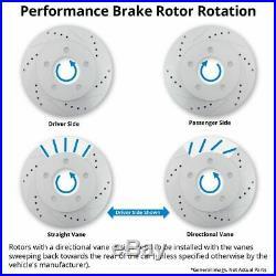 Performance Drilled Slotted Brake Rotor & Posi Metallic Pads Front Set