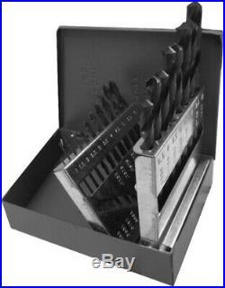 Portable Drill Bit Set 135-Degree Split Point Cobalt Metric Handheld (19-Piece)