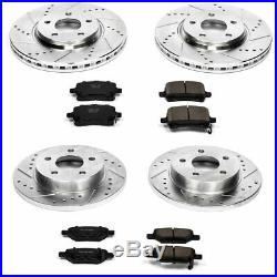 Powerstop Brake Disc and Pad Kits 4-Wheel Set Front & Rear New for K1612