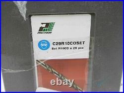 Precision 29 Piece Cobalt Jobber Length Drill Set 1/16 1/2 x 64ths C29R10CO