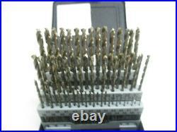 Precision Twist 60 Pc. Cobalt Jobber Length Drill Bit Set #60 #1 Split Point