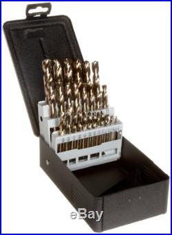 Precision Twist C29M40CO Cobalt Steel Short Length Drill Bit Set with Metal 135