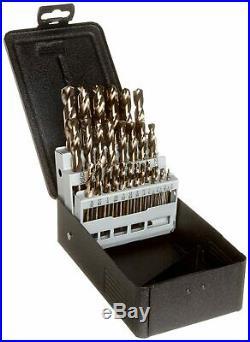 Precision Twist C29M40CO Cobalt Steel Short Length Drill Bit Set with Metal Case
