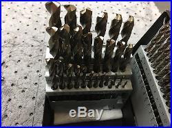 Precision Twist Drill Cobalt Drill Bit Set 1/16 to 1/2 135º Pt Gold Fin 099706