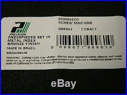 Precision Twist Drill Cobalt Screw Machine Length Drill Bit Set 135° Point 09996