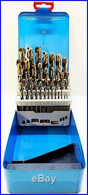 Presto HSCo 8% Cobalt 29Pc Jobber Drill Set Imperial Sizes 1/16-1/2 x 1/64