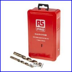 RS Pro JOBBER DRILL BIT SET 25Pcs 1-13mm Metric, HSS-E Cobalt, 135° Split Point