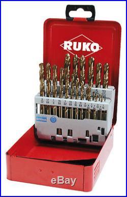 RUKO 21pcs. Cobalt Drill Bit Set HSSE-Co5 Fractional Sizes 1/16 3/8