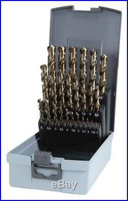 RUKO 24pcs. Cobalt Drills Set HSS-Co5, 1-10.5mm include 3.3 / 4.2 / 6.8 / 10.2mm