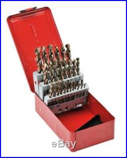 RUKO 29pcs. Cobalt Drill Bit Set in Fractional Sizes 1/16 1/2 HSS-Co5