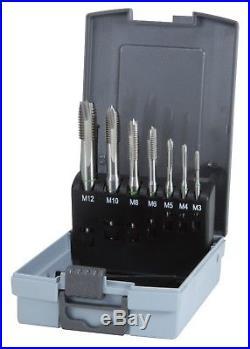 RUKO 7pcs. Cobalt Machine Tap Set HSSE-Co5 in plastic case, MADE IN GERMANY