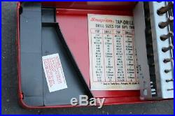 Rare Snap On Cobalt 15 Piece Drill Bit Set Imetal Case Mechanics Length Dbc215