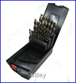 Rdgtools 25pc Cobalt Fully Ground 1 13mm Drill Set Drillng Engineering Tools