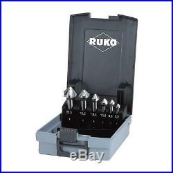 Ruko Set of 6 Cobalt Co5 HSS Metal Countersink Deburring Bits 6.3mm 20.5mm