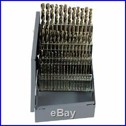 Rushmore RM60CO #1-#60 Cobalt HD Screw Machine (Stub) Drill Set-60 Pcs