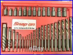 SNAP-ON 35Pc. Screw Bolt Extractor / LH Cobalt Drill Bit Set EXD35 set