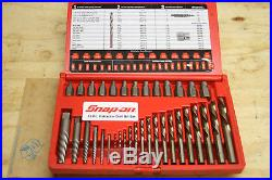 SNAP-ON 35 Pc Screw Extractor/LH Cobalt Drill Bit Set EXD35 (CR)