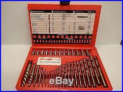 SNAP ON 35pc Screw Extractor / LH Left Hand Cobalt Drill Bit Set EXD35 NOS