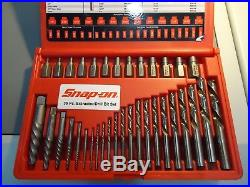 SNAP-ON EXD35 Screw Extractor/LH Cobalt Drill Bit Set 35pc. Excellent