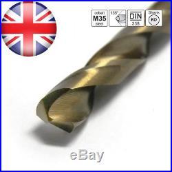 S&R Metal Drill Set 1.0 10 mm, 19 pcs, DIN 338, HSS COBALT, Cobalt Alloy